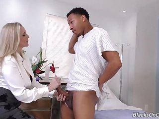 White Milf Doctor Yanks Big Long Dick Of Black Youngster
