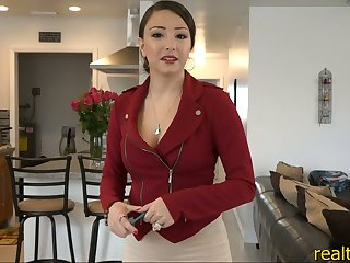 Real estate agent with big round ass fucks to make the sale
