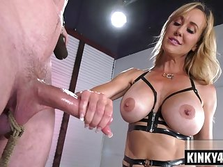 Naughty housewife bondage and ejaculation