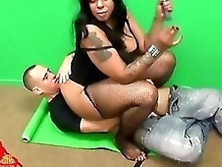 fat girl footjob