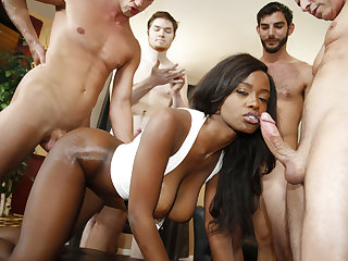 Jezabel Vessir invites 5 men for gangbang
