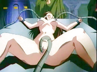 Captive hentai gets hard drilled by tentacles