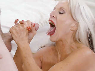 70 years old nurse fucks her 50 years younger patient!