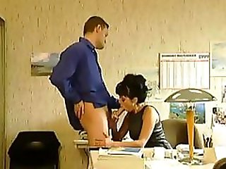 Bitch In Boots Fucked At The Office