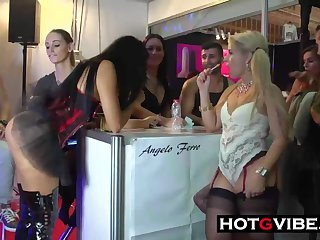 Horny Babes Finger In Public