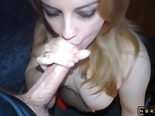 Real hooker deepthroat emptying his balls