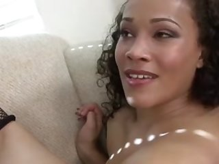 superb black girl fucks black cock