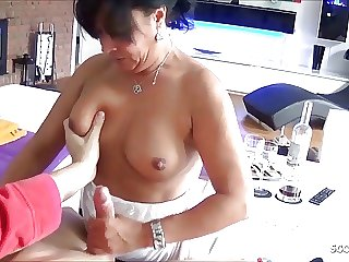Horny German Mature Step Mom Seduce Son to Fuck her Anal