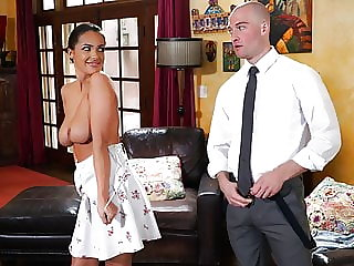 NuruMassage – Bouncing On My Husband's Boss' Slippery Cock