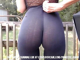 Cute College Teen Caught In The Backyard...