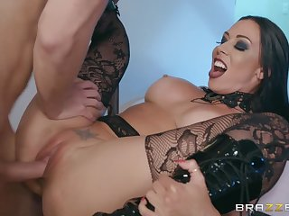 Goth goddess in boots and fishnets fucked raw by Markus Dupree