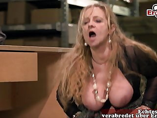 German Mature Granny with big natural boobs fucked