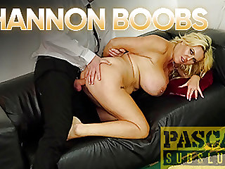 PASCALSSUBSLUTS - Busty British MILF Shannon Boobs Dominated