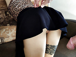 asked to lift her skirt and fuck slowly
