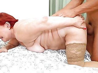 Old granny gets a young cock of her dreams