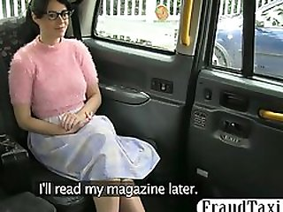 Amateur customer hairy pussy pounded by fraud driver