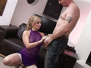 Horny housewife gives everything to please this man