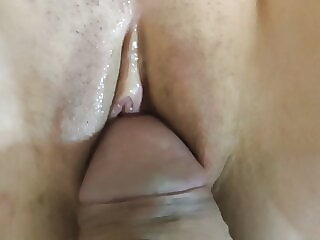 Fucked a young student in missionary position very gently