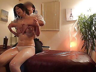 Big Titty Housewives Squirts During Oil Massage