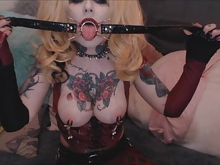 Harley Quinn Spider Gag and Fuck Machine