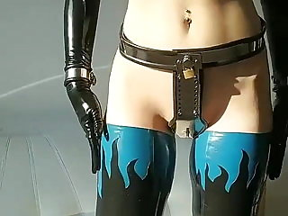 Latex, Ballet Boots, Cuffs, Chastity Belt...amazing