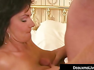 Southern Cougar Deauxma Rides Her Husbands Hard Cock!