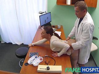 Fake hospital Doctor turns sexy patient on to the limit