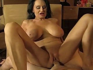 Hot amateur mature sucking and fucking a younger man
