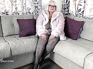 Pink Fur Coat And Bodystocking