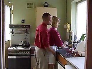 Lovely British housewife fucked in her kitchen