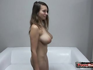 Big titties porn actress casting and cumshot shot