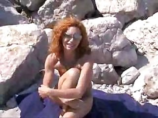 beach, group sex, redheads