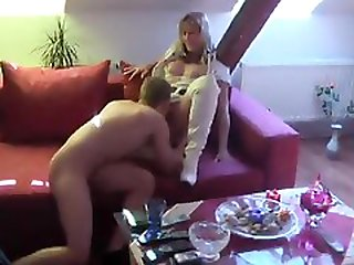 White leather boots amateur fucked