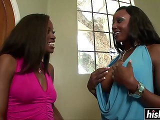 Diamond and her friends share big cocks