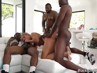 Ultra-Kinky Hoe Torn Up By 3 Gigantic Sausages Candice Dare