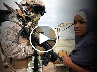 Arab Chic Gets Fucked Fard By US Soldiers