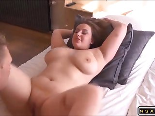 Horny chubby gf sucking cock fucking part 1