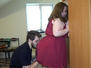 Checking new dress out