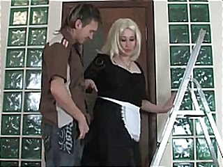 milf, blonde, stockings, russian, sex, mature, blowjob