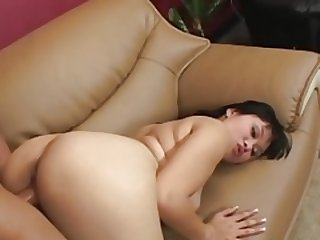 Excited Asiatic Girl Kiwi Lang Giving head White Big Cock