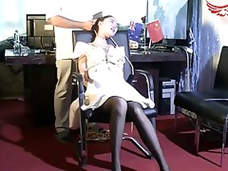 Cute Chinese Girl With Sexy Legs Learns A Lesson In Bondage