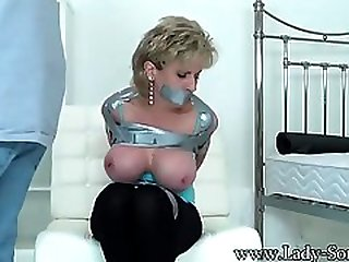 Mature, Light-haired Housewife With Large Mammories Got Taped And Fingerfucked Until She Had An Ejaculation