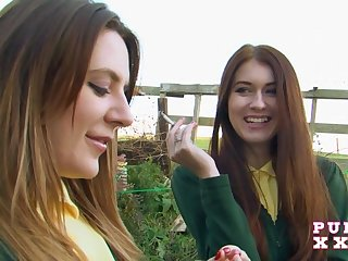 Samantha bentley and misha cross as schoolgirls