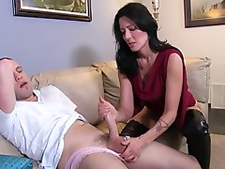 Nasty Stepmom Zoey Holloway Strokes Thick Dick Of Her Son