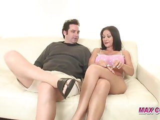 busty ass brunette has a fuck in a cuckold session