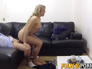 Mature Czech blonde spreads her legs and swallows a hot load