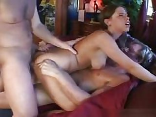 brunettes, double penetration, gangbang, group sex, pornstars