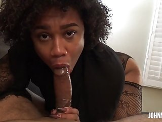 Stunning Belizean Ebony Princess Nala Sucks and Rides Dick Like a Pro