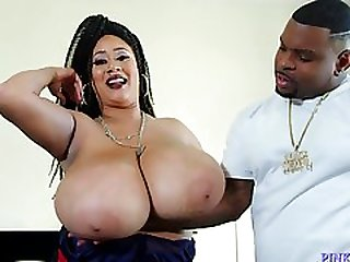 Heavy-Breasted Ebony Whore Drilled By A Big Black Cock - Rico Strong