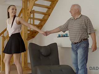 DADDY4K. Boyfriend caught girl having old and young sex with his dad